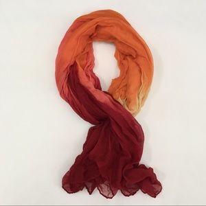 Orange yellow red ombré hijab scarf